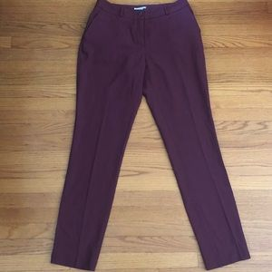 Burgundy dress pants